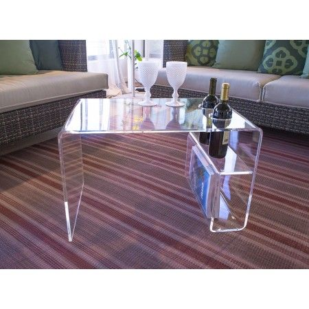 Clear Acylic Tables With Magazine Rack Shopping Online Acrylic Furniture Acrylic Coffee Table Lucite Furniture