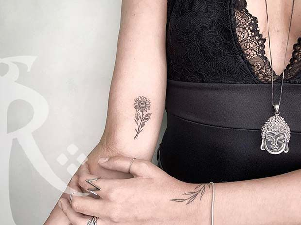 Photo of 61 Pretty Sunflower Tattoo Ideas to Copy Now   Page 4 of 6   StayGlam
