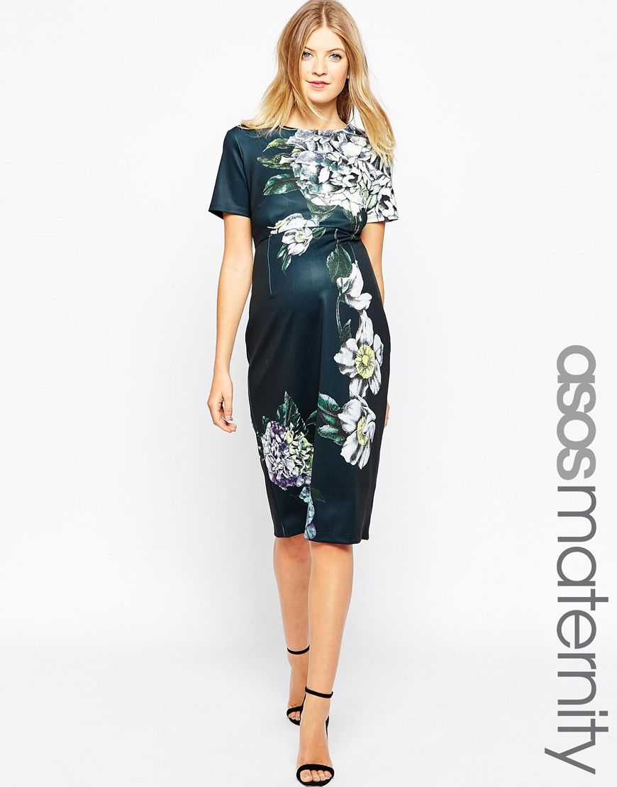 Asos maternity premium placed floral scuba midi bodycon dress asos maternity premium placed floral scuba midi bodycon dress ombrellifo Image collections