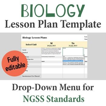 High School Science Lesson Plan Template Drop Down Ngss Standards
