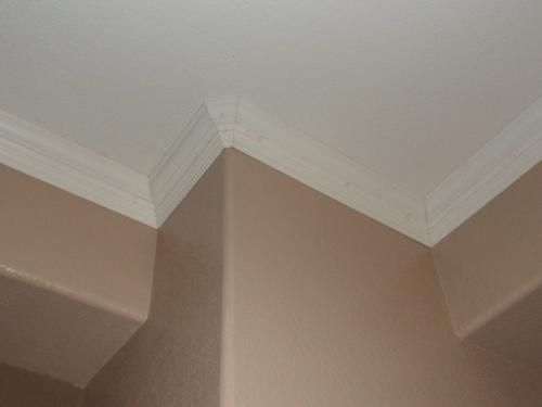 House Of Fara 3 4 In X 4 1 2 In X 8 Ft Mdf Crown Moulding 8659 The Home Depot Home House Interior House
