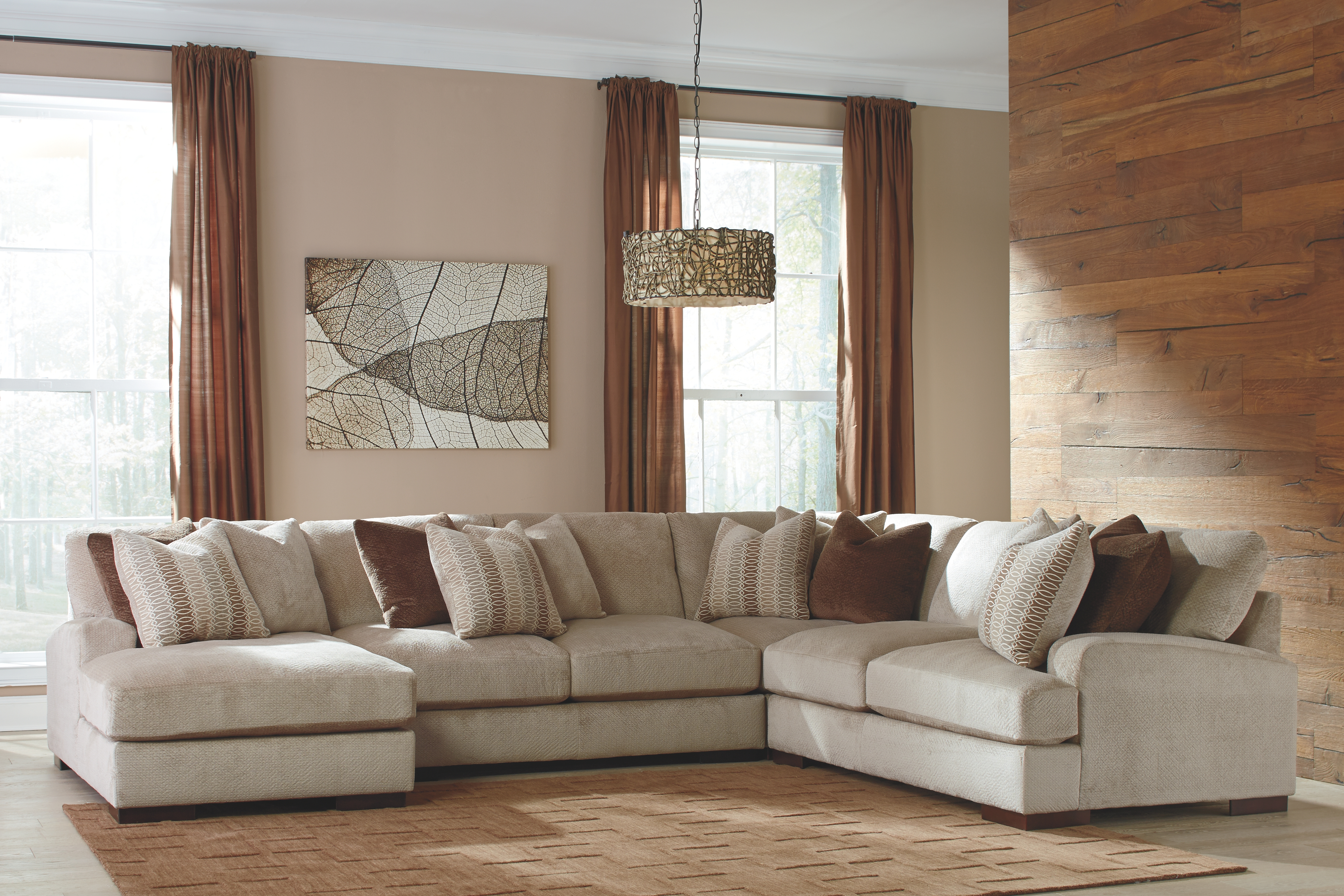 Magnificent Arminio 4 Piece Sectional With Chaise Fleece Products In Onthecornerstone Fun Painted Chair Ideas Images Onthecornerstoneorg