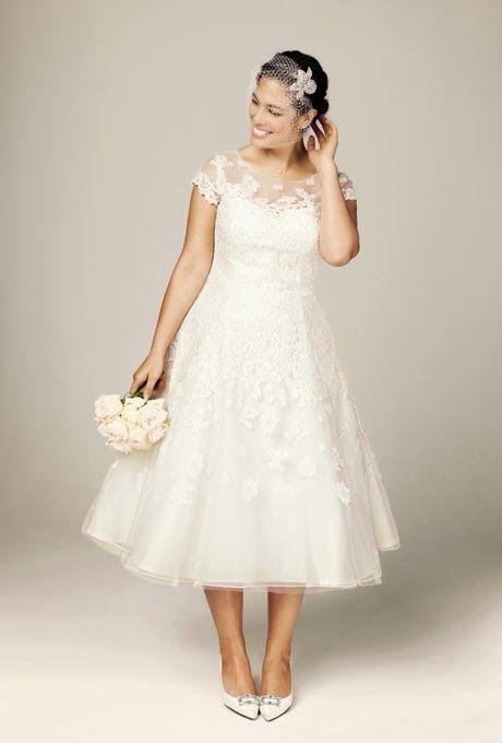Vestidos para matrimonio civil de dia para gorditas