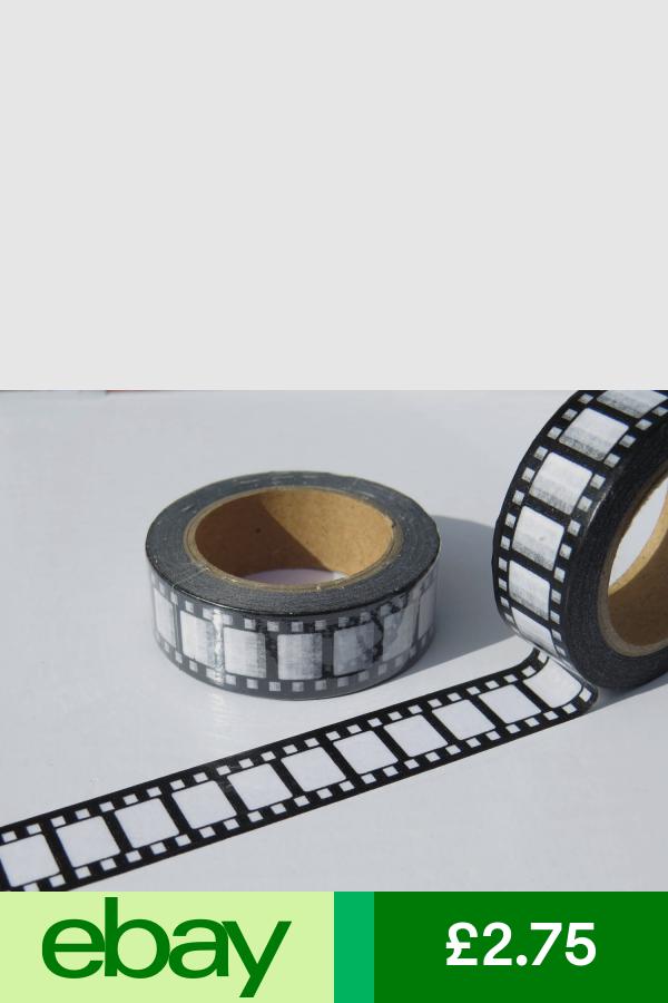 Retro Camera Film Movie Reel Washi Paper Tape 15mm X 10 Metre Roll Free Uk P P Retro Camera Paper Tape Movie Reels