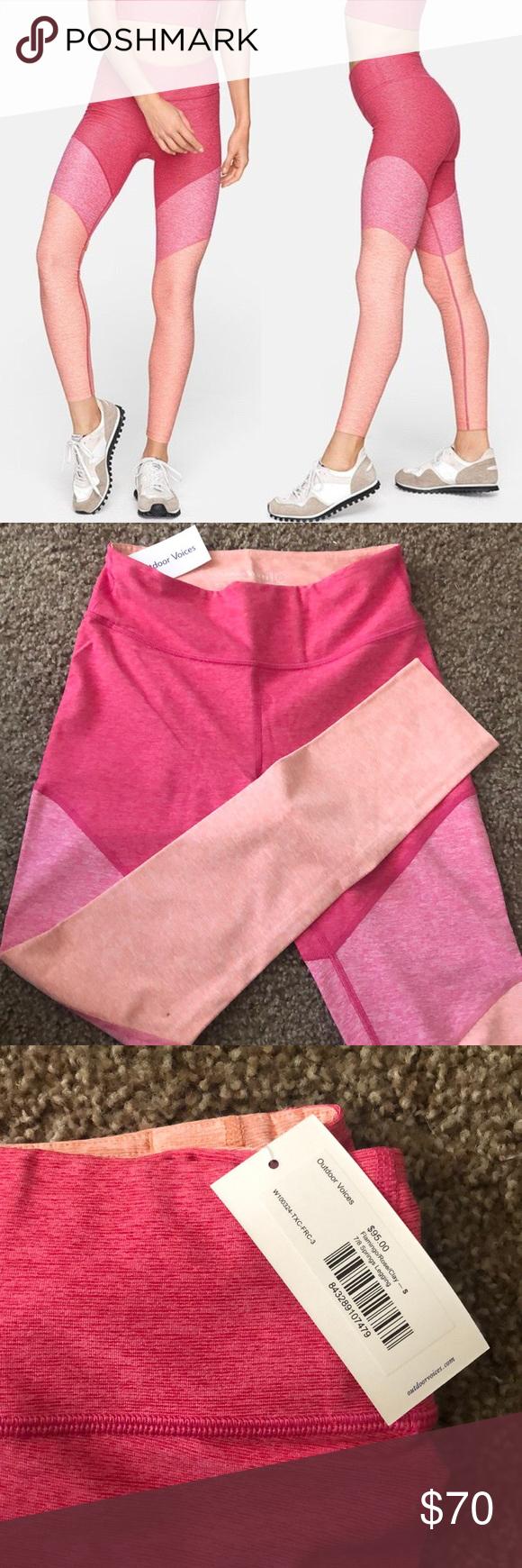 d786b67ade87e NWT Outdoor Voices leggings NWT flamingo/rose/clay 7/8 spring leggings/ size  small/ perfect condition Outdoor Voices Pants Leggings
