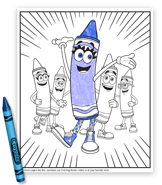 Free Bluetiful Coloring Pages 1 | Crayola | Pinterest