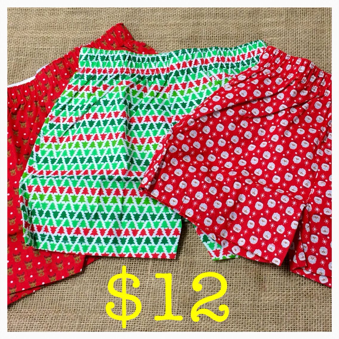 Kids' holiday boxers $12