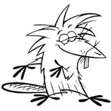 The Angry Beavers Coloring Page Angry Beaver Coloring Pages