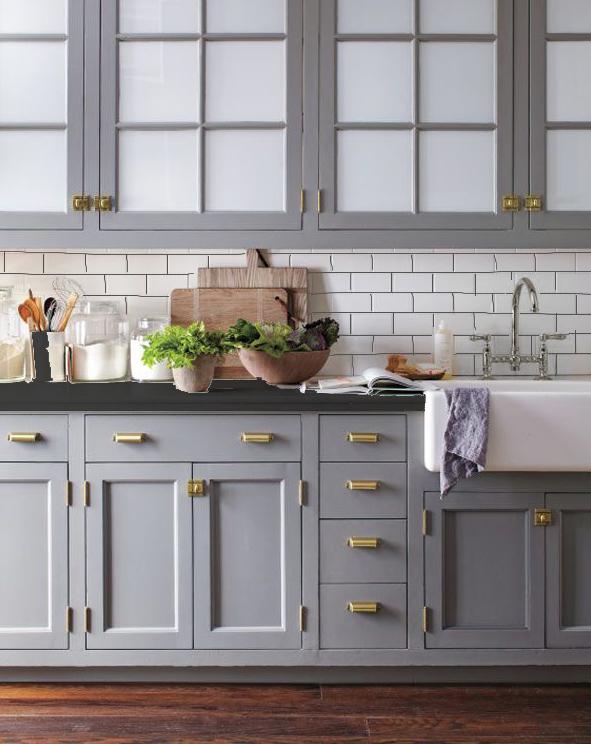39++ Grey cabinets black countertops ideas