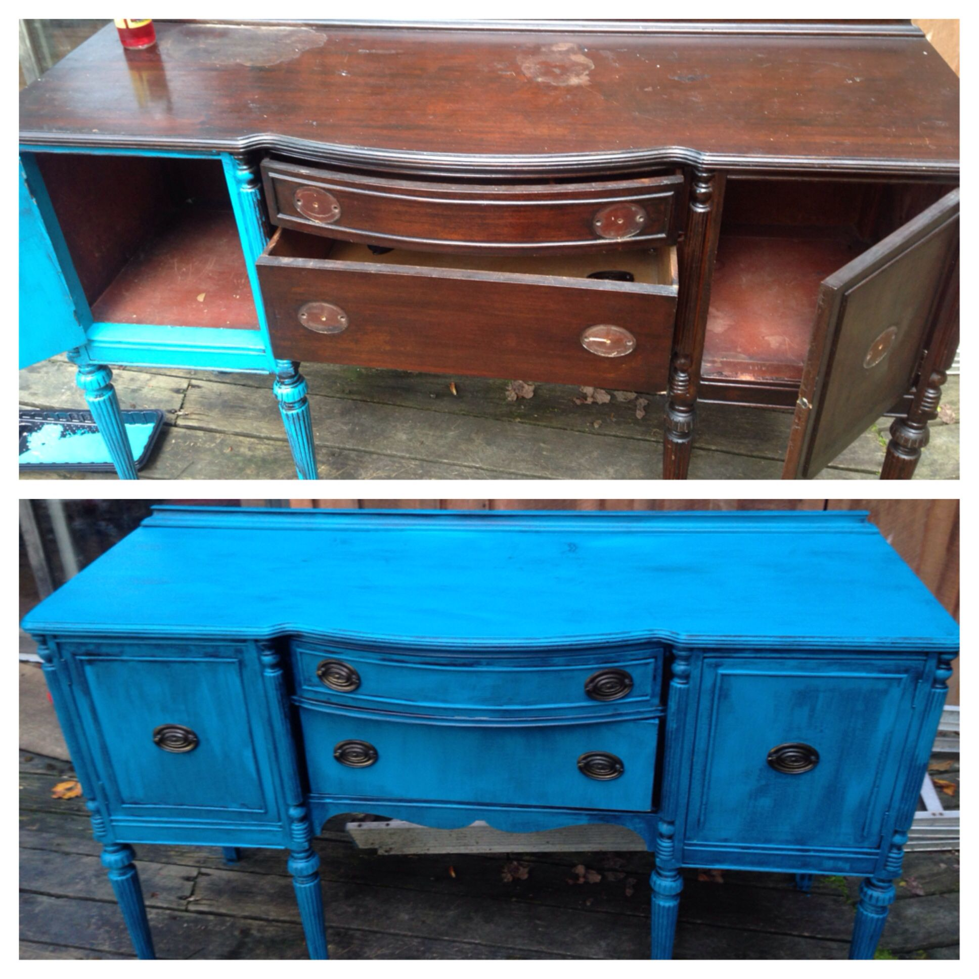 Refurbish Old Furniture. Paint Old Furniture. Reclaim. Reuse. Recycle. Dry  Brush