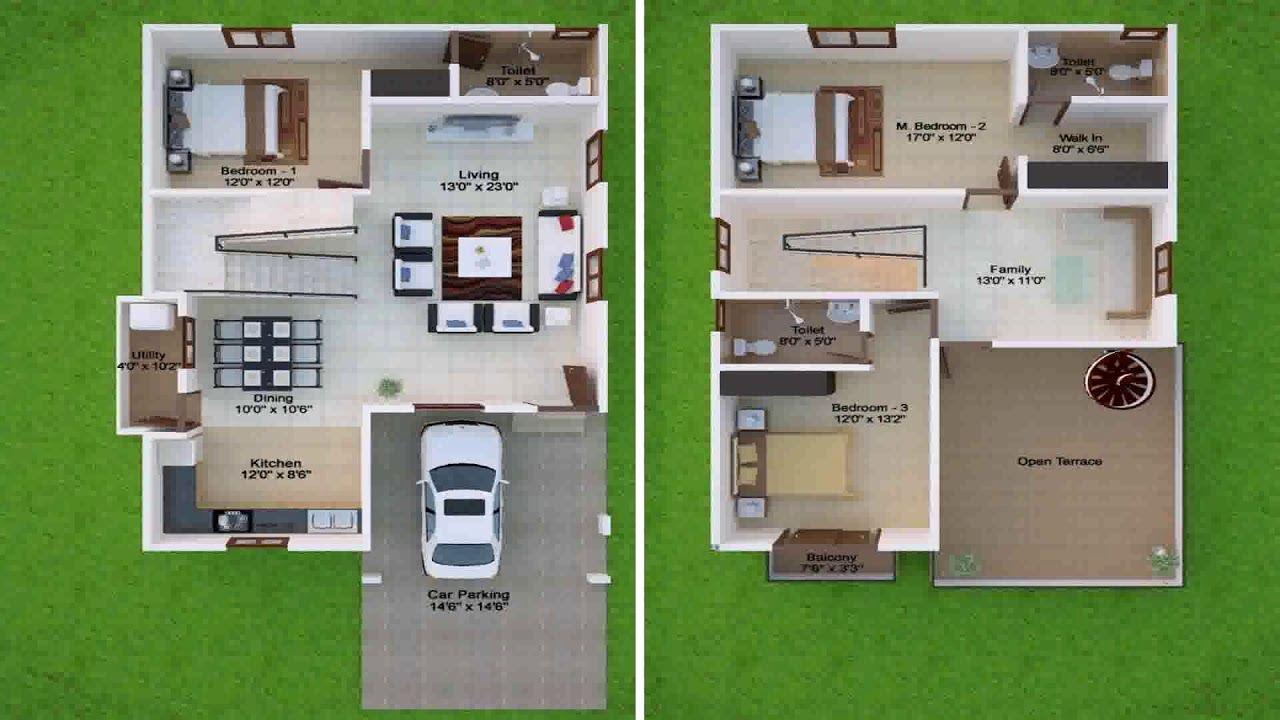 duplex house plans for 20x30 site south facing Floor