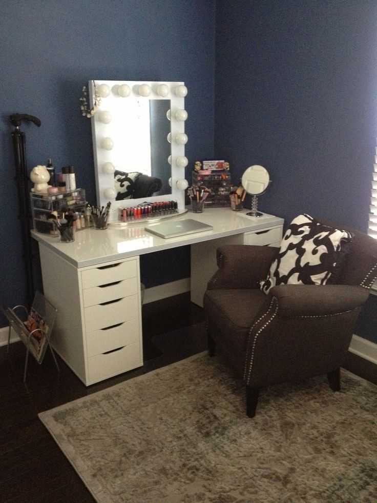 Make Your Own Vanity Drawers Ikea Alex Table Top Linnmon