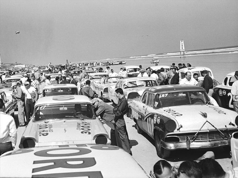 1950 Nascar Race Cars Field View Daddy Loved Any Kind Of Racing