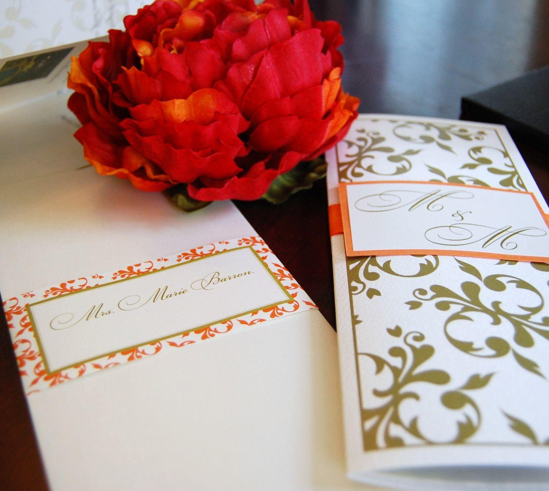 Booklet wedding invitation stationery pinterest stationery