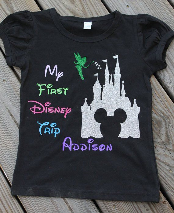 My first Disney trip shirt - personalized Mickey mouse - Castle ...