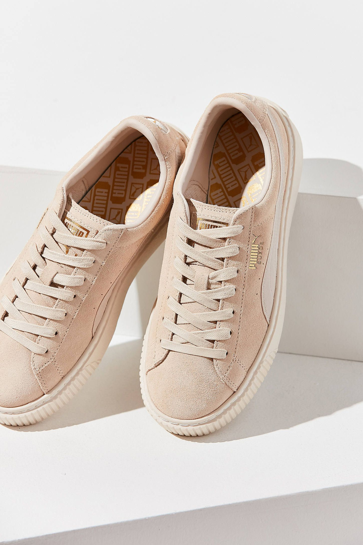 469c98f248d Shop Puma Suede Summer Satin Platform Sneaker at Urban Outfitters ...