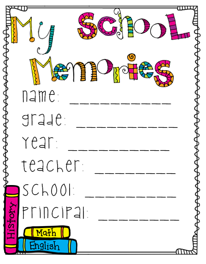 Memory Book Cover Printable : A wonderfully cute end of the year memory book for grades