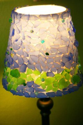 Lamp Shade... Made Of Beach Glass, But I Need To Go To