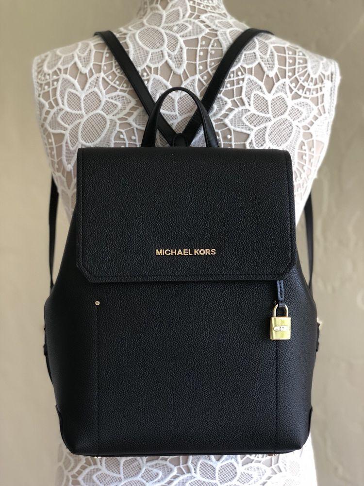 f934122ea888 ... wholesale new arrivals michael kors medium leather backpack purse black  192317768107 ebay 9e2e9 9d2e4 37eb5 48975
