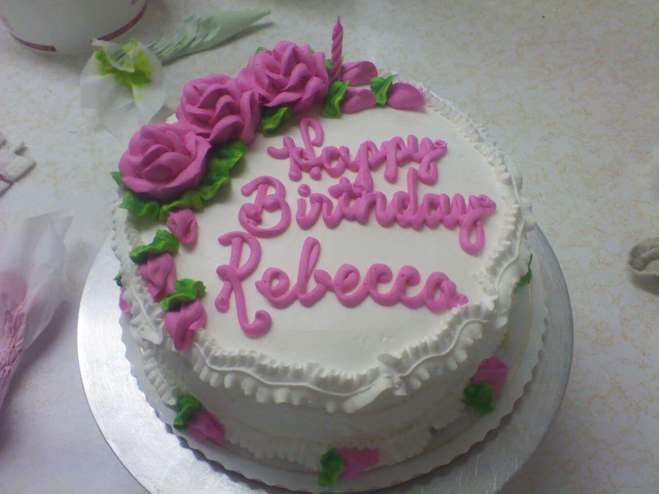 Happy Birthday Rebecca Cakes