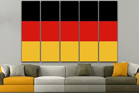Germany flag Print on canvas Germany flag art Germany flag poster ...