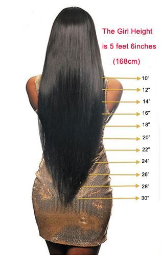 Ladies Which Length You Want To Wear See This Brazilian Silky Straight Hair Inches Hair Extension Lengths Hair Styles