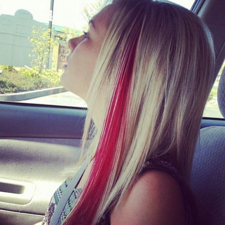 Red streaks in hair google search want pinterest red instead of a red streak i will do blonde in my dark brown hair pmusecretfo Choice Image