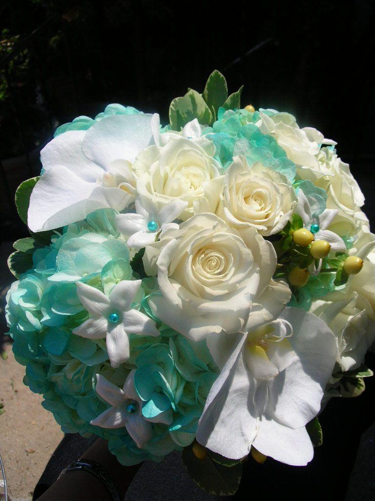 Tiffany blue bouquet wedding flowers pinterest tiffany blue these are my wedding flowers lol blue wedding flowers for cool atmosphere tiffany blue wedding flowers wedding decorations izmirmasajfo