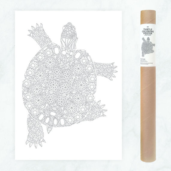Diamonds Turtle Coloring Poster Giant Coloring Page Turtle