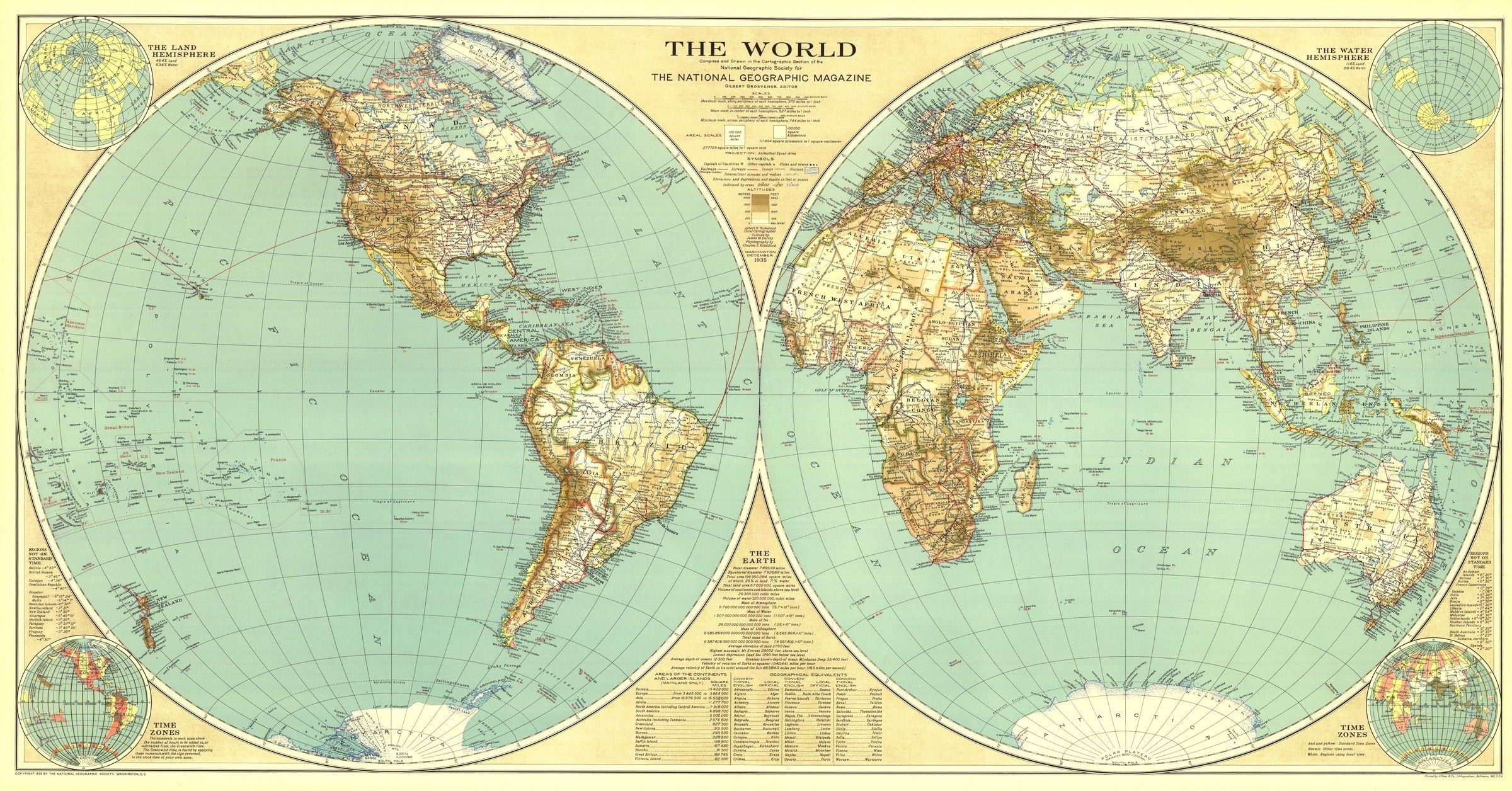 World Map 1935 World Map Poster World Map Printable Old World Maps