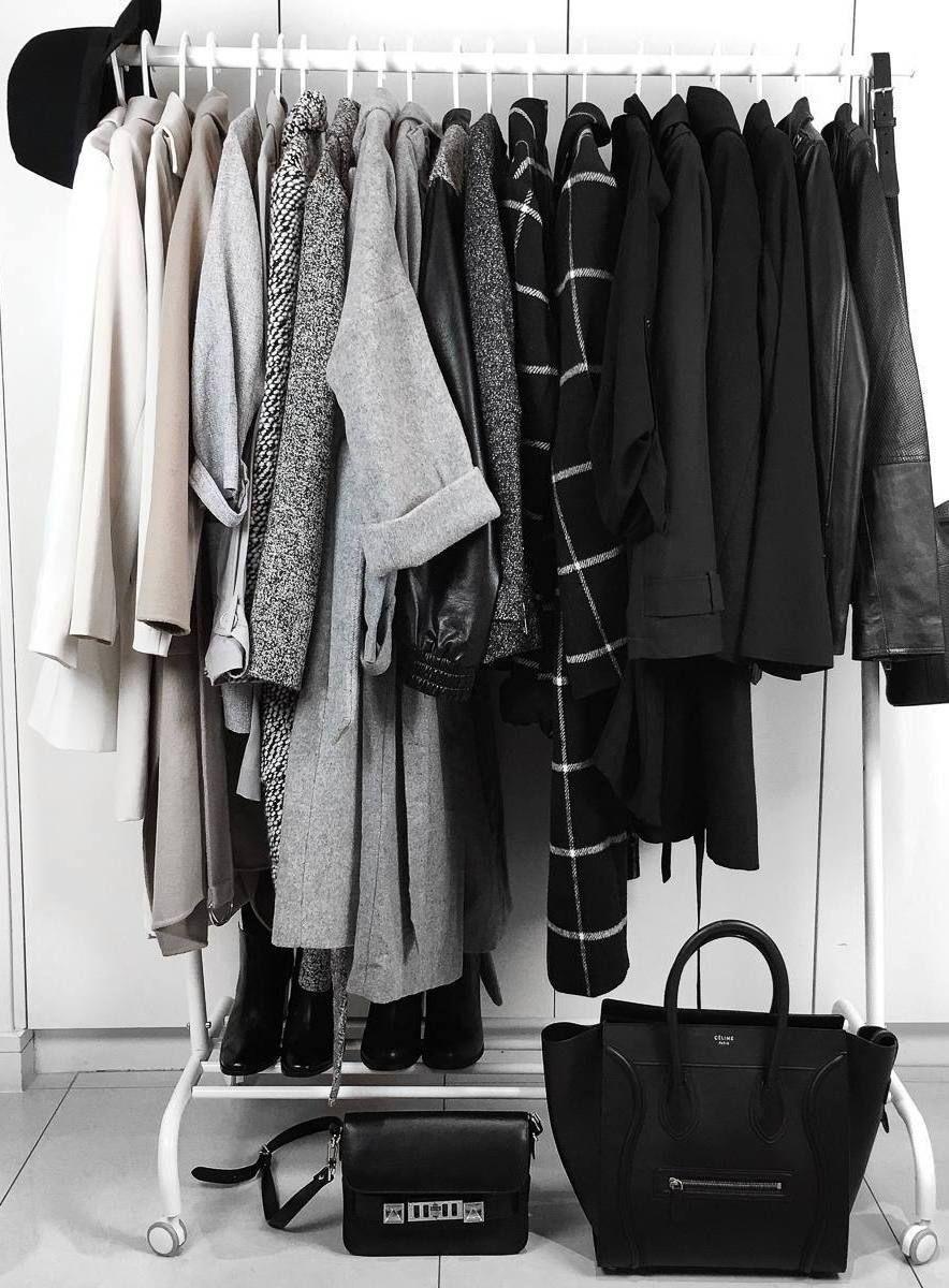 capsule wardrobe minimal closet clothing rack ideas on extraordinary clever minimalist wardrobe ideas id=20548