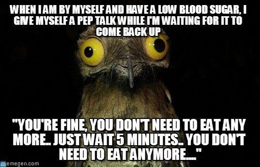 Low Blood Sugar My T1diabetes Funny Low Blood Sugar Diabetes