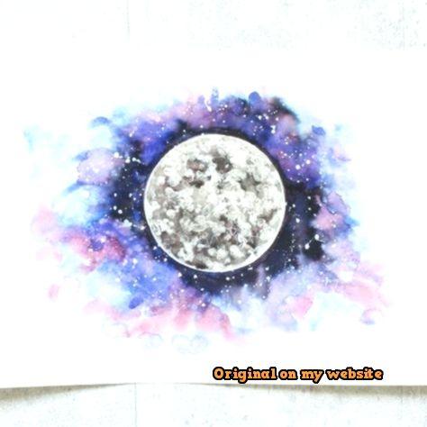 Tumblr Bilder Hintergrund Galaxy Planeten Aquarell Watercolor