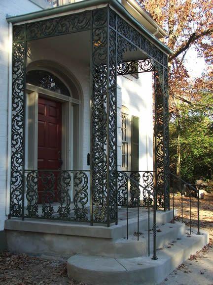 Custom Wrought Iron Porch Columns Facade Pinterest