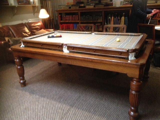 Antique Rollover Snooker Dining Table Huntsman Cloth Meubles Anciens Restauration De Meubles Anciens Bibliothèque Antique