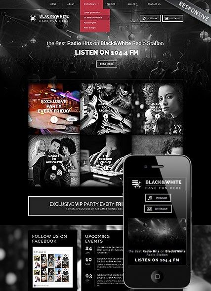Online Radio Station WordPress Template
