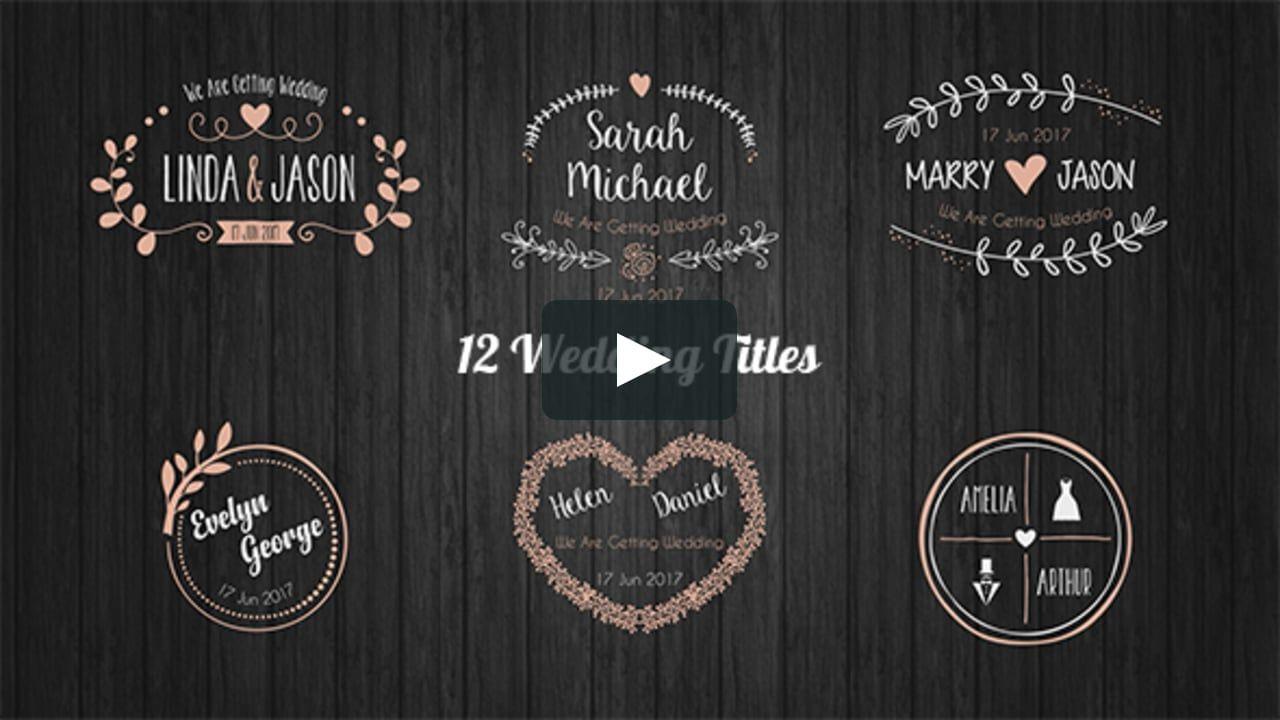 Motiongraphic Aftereffects Branch Elegant Floral Hand Drawn Laurel Love Story Romantic Opener Title Vintage W Wedding Titles Wedding Badges Wedding