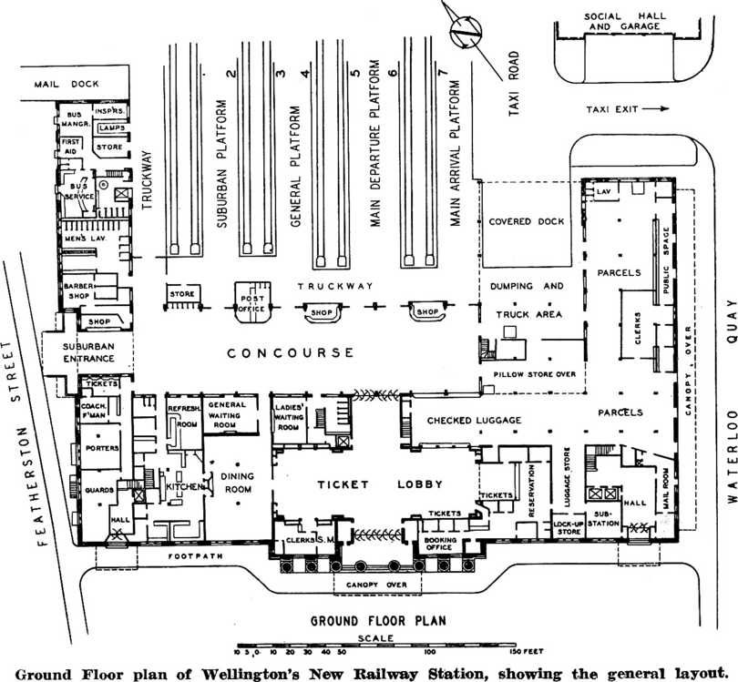 Ground Floor Plan Of Wellingtons New Railway Station