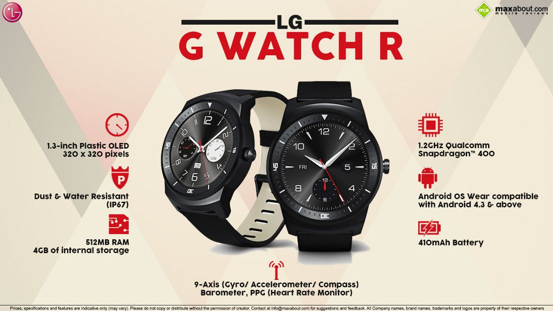LG G Watch R with Circular POLED Display Announced G
