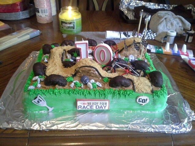 Racing bike cake