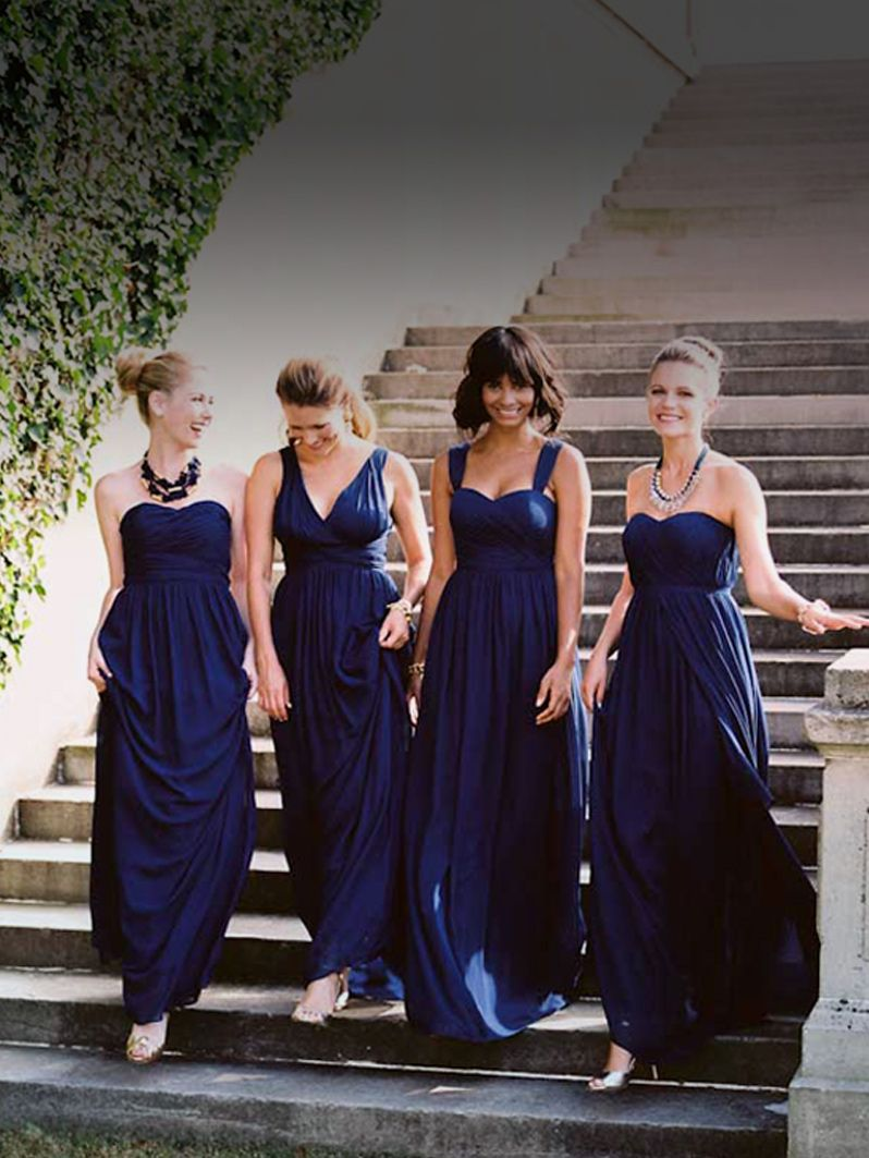 Happy maids happy day give your gals what they want pretty custom made blue long bridesmaid dresses 2015 cheap elegant mia and matched ombrellifo Image collections