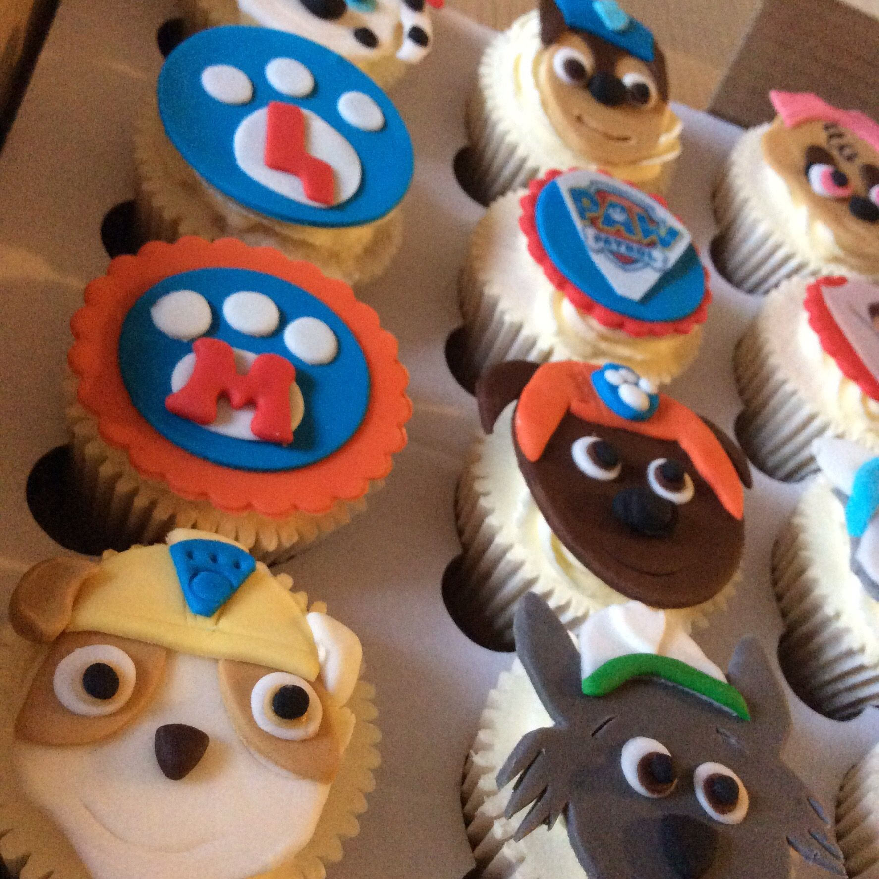 My little boy loved these Paw Patrol cupcakes I made these cute