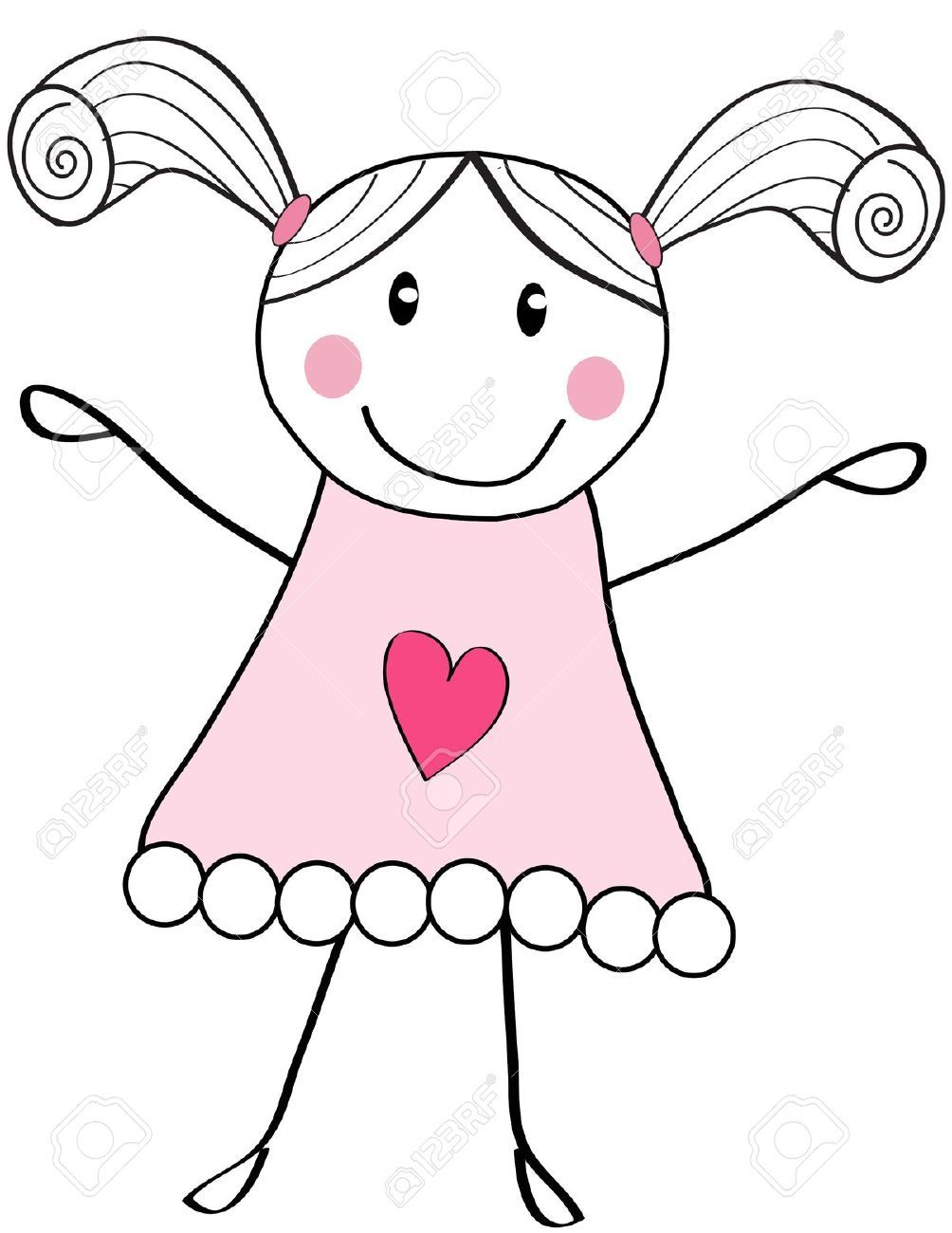 Image Result For Cute Little Girl Sketches Crafts