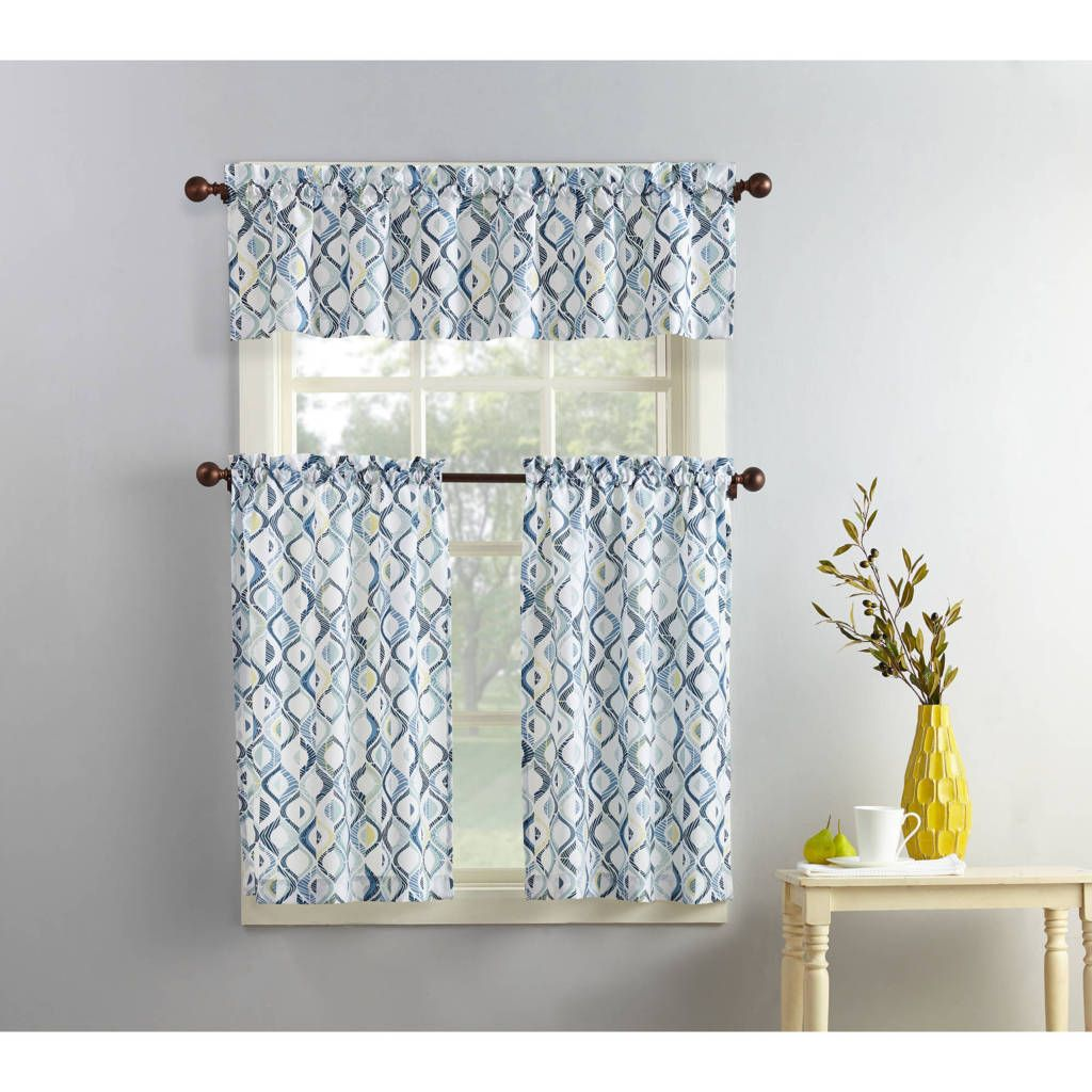 Amazing Walmart Kitchen Curtains Valances Pertaining To Your House