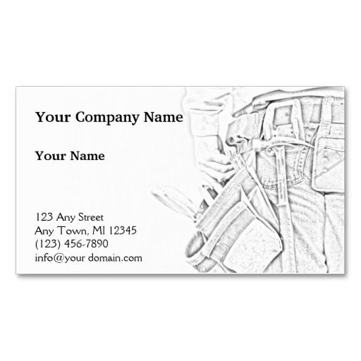 Handyman Sketch In Black And White Business Card Templates Make Your Own With This Great Design All You Need Is To Add Info