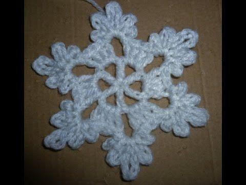 Schneeflocke häkeln - Eisblume - Eiskristall - Baumschmuck ...