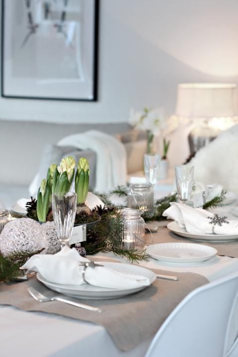 Christmas table decoration Natal Pinterest Table decorations