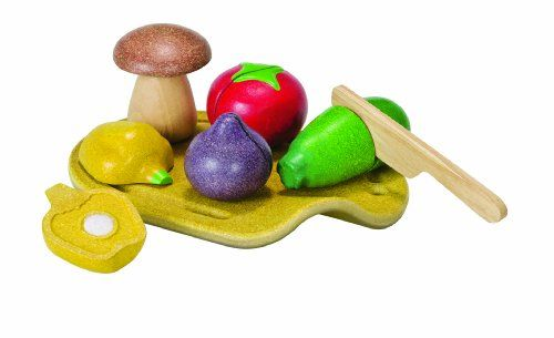 PlanToys Sliceable Fruits /& Veggies Set Playset