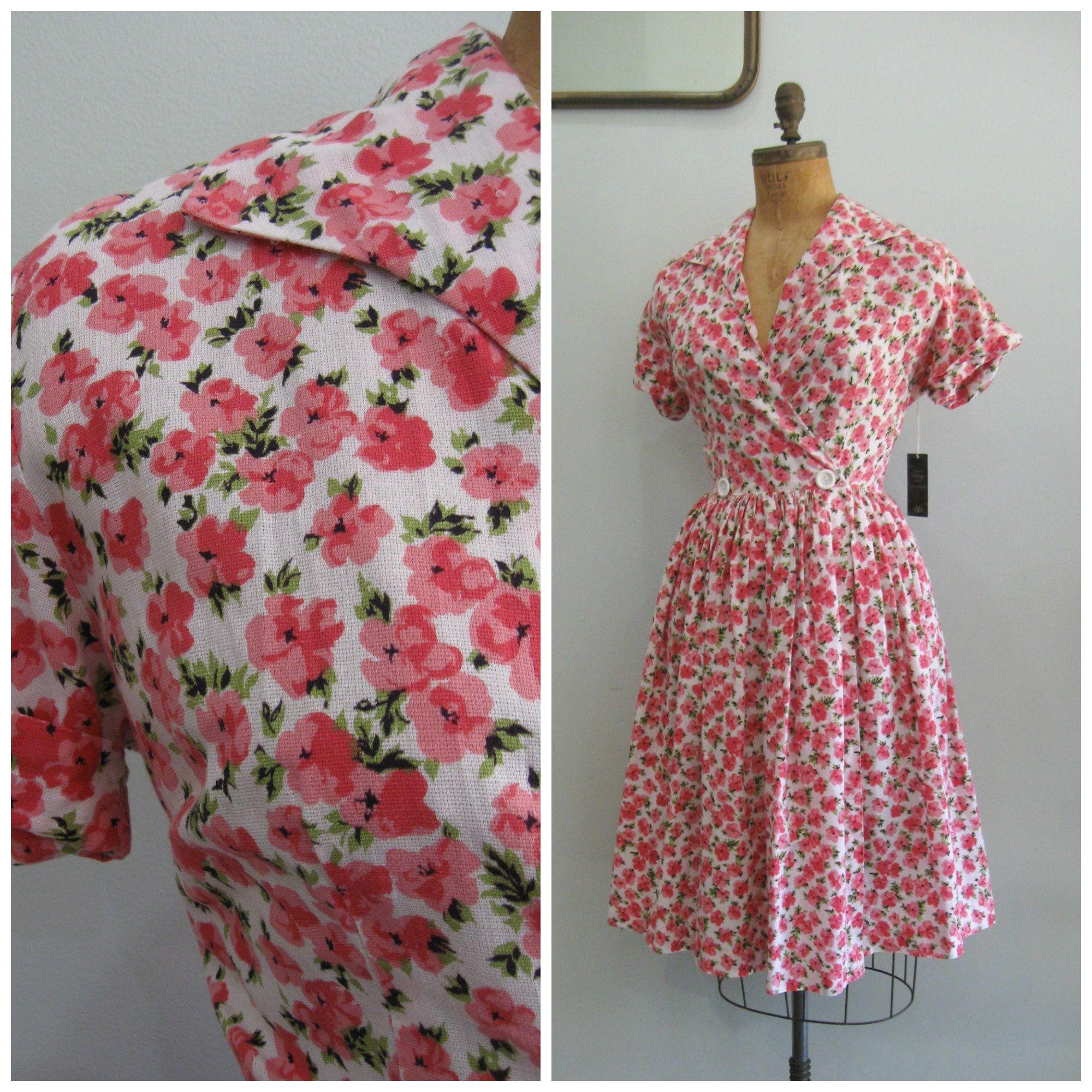 Vintage Mid Century Pink Floral Wrap Dress Loungees Size Medium Large Wrap Dress Floral Vintage Wrap Dress Wrap Dress [ 2000 x 2000 Pixel ]