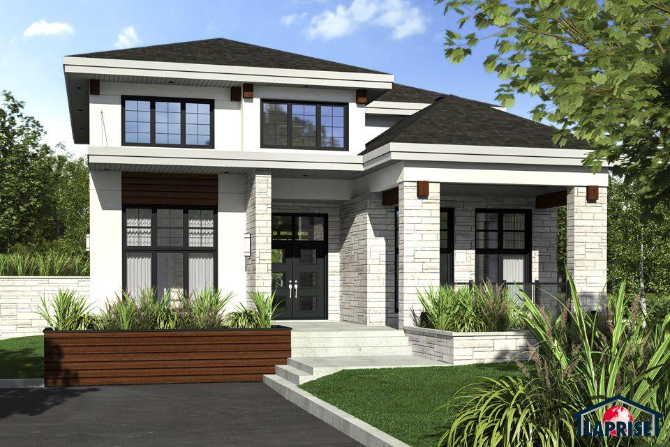 Designer zen contemporain lap0528 maison laprise maisons pr usin es floor plans 5 - Maison prefab ...